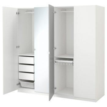 Du kan nu leje en af vore store garderobeskabe i hvid